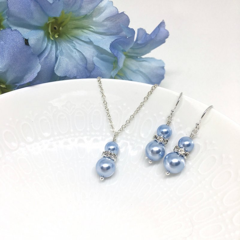Pale Blue Bridesmaid Jewelry