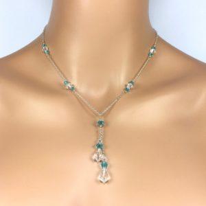 Aqua Blue Lariat Necklace