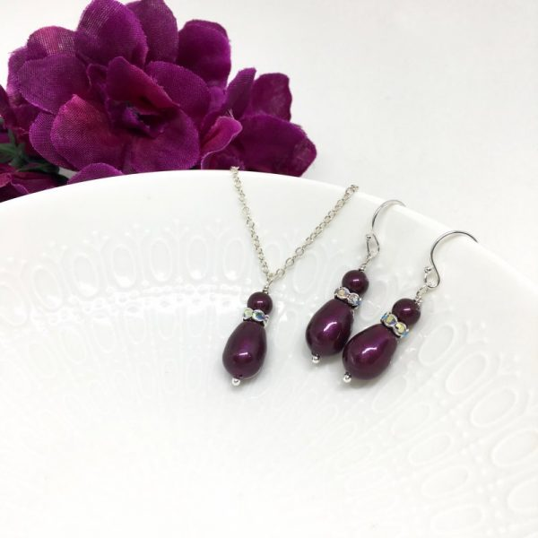 Maroon Bridesmaid Jewelry