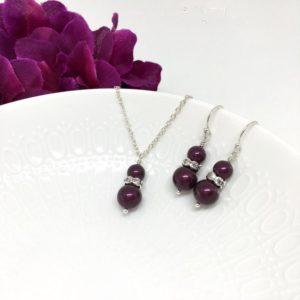 Berry Bridesmaid Jewelry