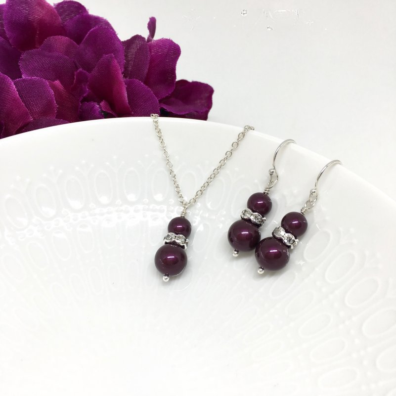 Berry Bridesmaid Jewelry