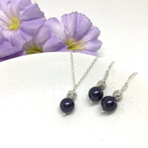Eggplant Jewelry Sterling Silver Pave Ball