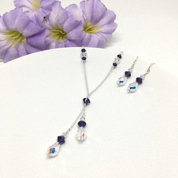 Dark Purple Bridesmaid Jewelry
