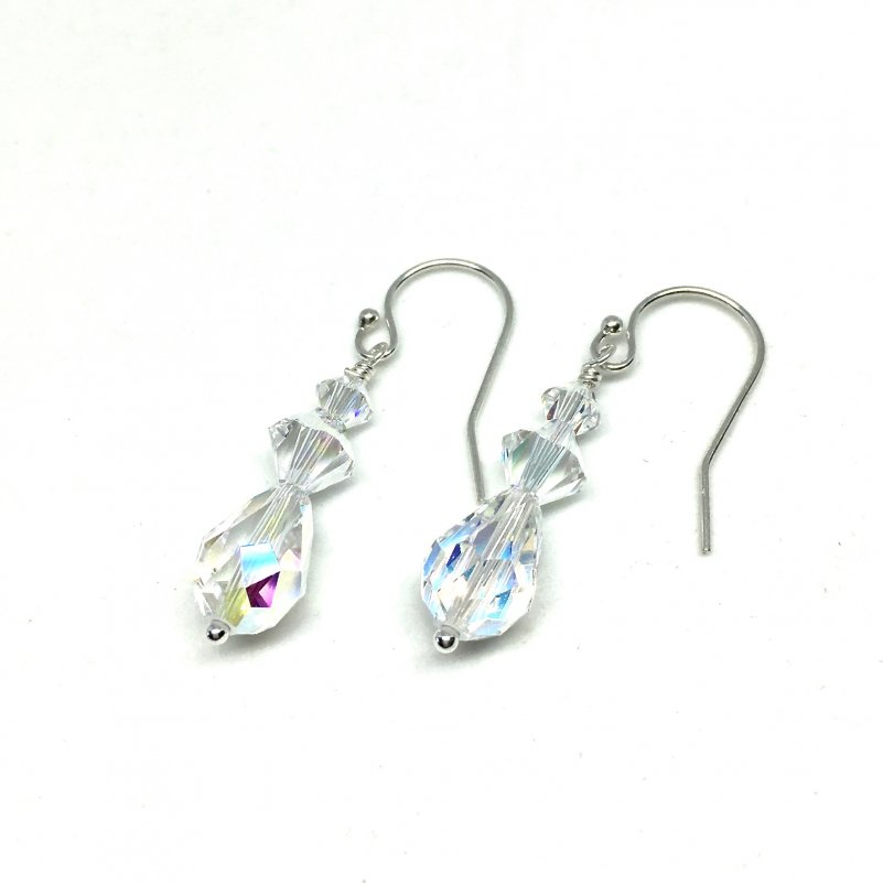Teardrop Crystal Bridal Earrings Swarovski Drop