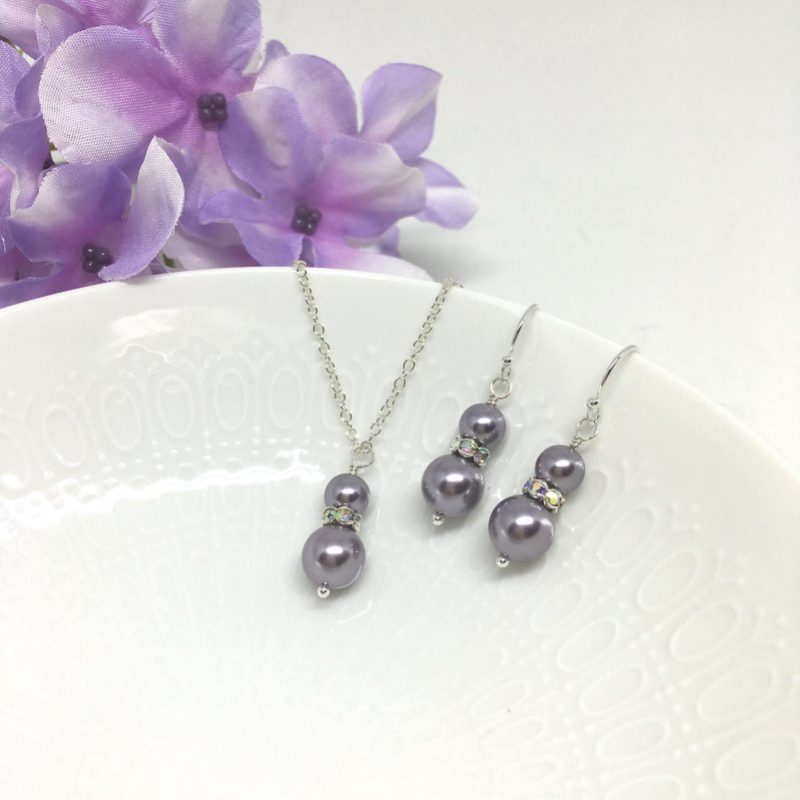 Mauve Bridesmaid Jewelry