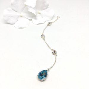 Something Blue Back Necklace