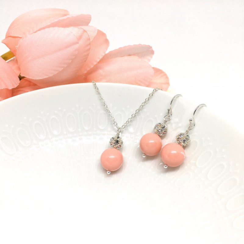 Coral Bridesmaid Jewelry
