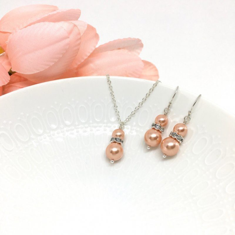Pinky Peach Bridesmaid Jewelry