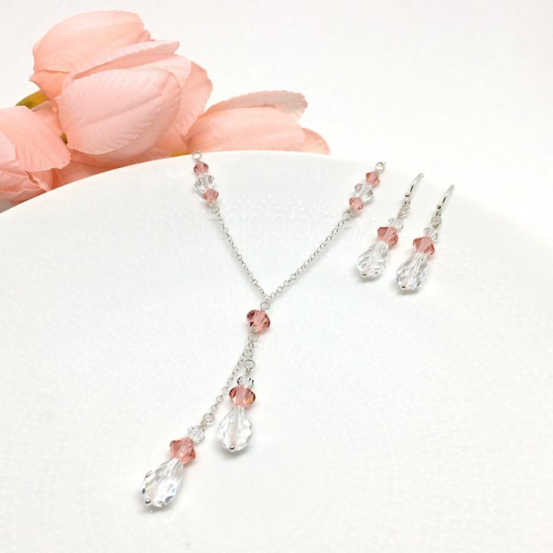Rose peach bridesmaid Jewelry