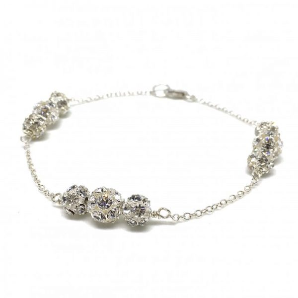 Sparkly Bracelet Pave Ball Bridal Bracelet