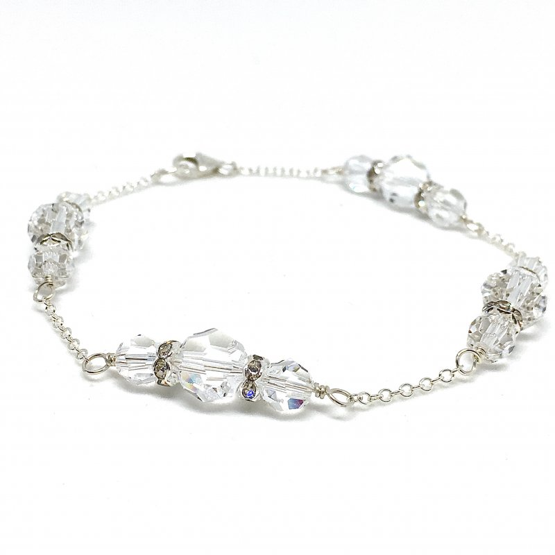 Large Crystal Bridal Bracelet
