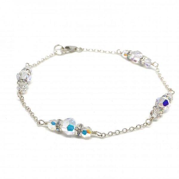 Round Swarovski Crystal Wedding Bracelet