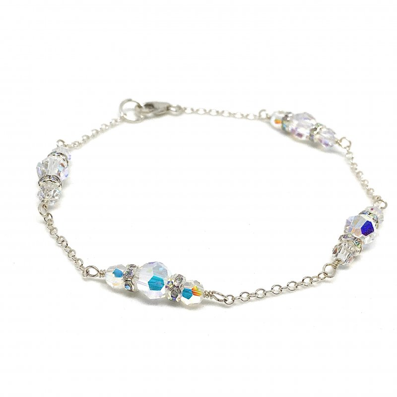 Round Swarovski Crystal Wedding Bracelet