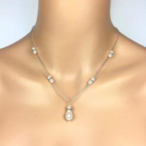 Drop Pearl Bridal Necklace