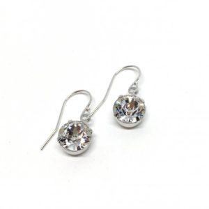Minimalist Earrings Swarovski Drop Earrings Solitaire Dangle Bridal Earrings