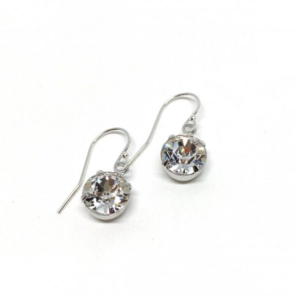 Solitaire Dangle Bridal Earrings