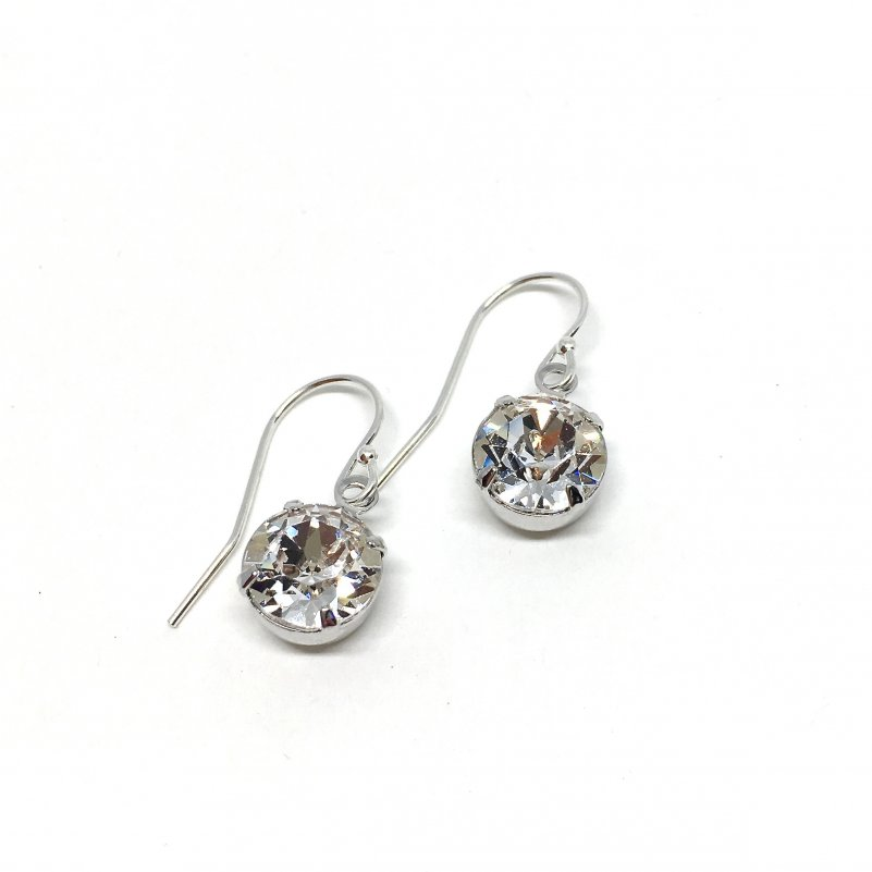 Solitaire Dangle Bridal Earrings