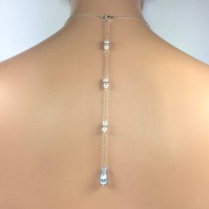 Blue Bridal Back Jewelry