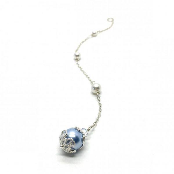 blue bridal accessory