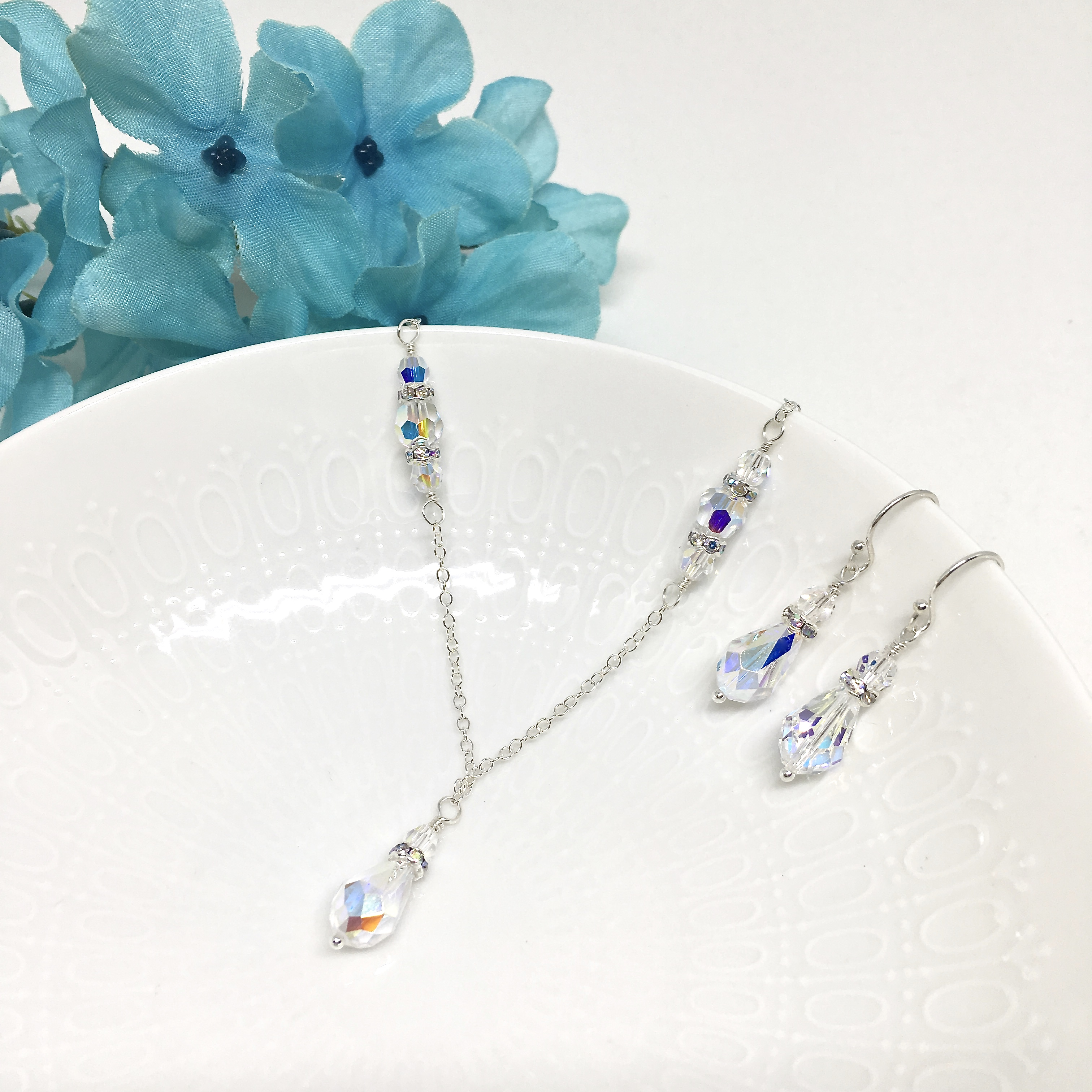 2e59a58d818328 $34.00 Select options · Flower Girl Jewelry Teardrop crystal Necklace