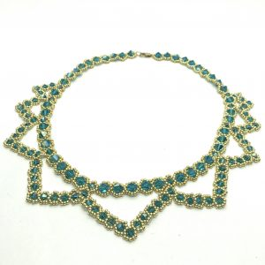 Green Mother of the bride Necklace Swarovski Crystal Statement Jewelry