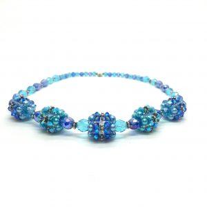 Blue Statement Necklace Blue Prom Jewelry Set
