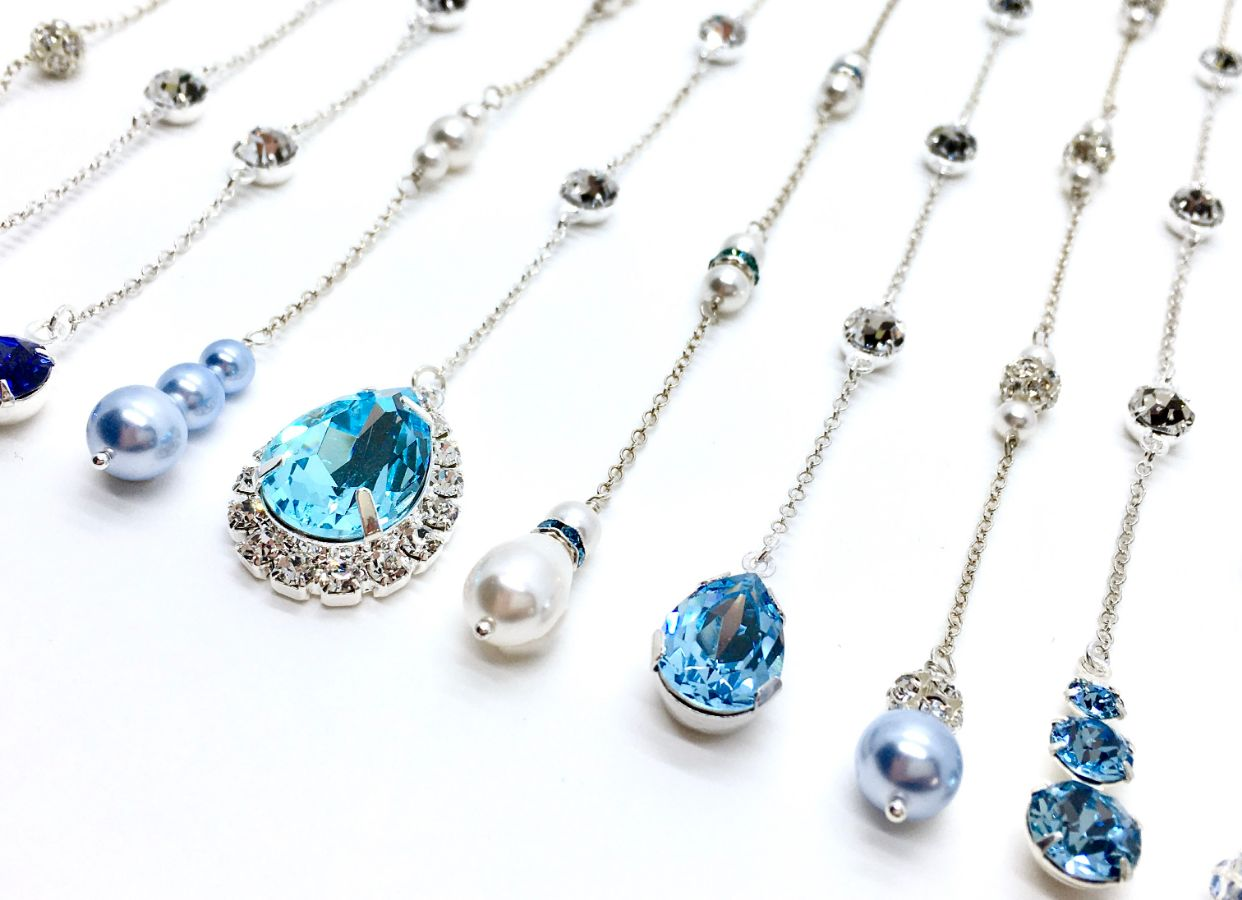 Something Blue Backdrop Necklace Attachments